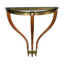 Hyedua wood demilune wall bracket console