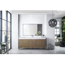 "Linear 72"" Single Bathroom Vanity, White Washed Walnut"