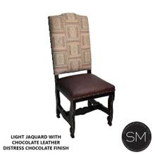Light Jaquard Wooden Chair