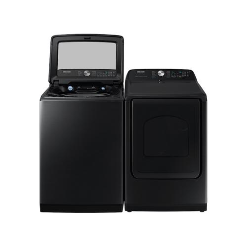 Gallery - 7.4 cu. ft. Smart Electric Dryer with Steam Sanitize+ in Brushed Black