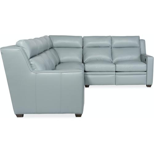 Bradington Young - Bradington Young Sectionals 201 Raymond Reclining Sectional with Two-Piece Back