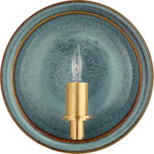 Visual Comfort CS2605OSB Christopher Spitzmiller Leeds 1 Light 8 inch Oslo Blue Wall Sconce Wall Light, Small Round