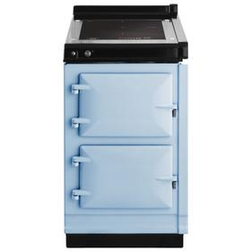 """AGA Hotcupboard 20"""" Induction Duck Egg Blue with Stainless Steel trim"""