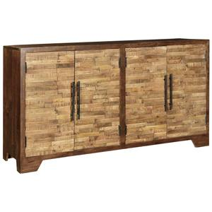 CRESTVIEW COLLECTIONSBengal Manor Mango Wood Random Strips Sideboard