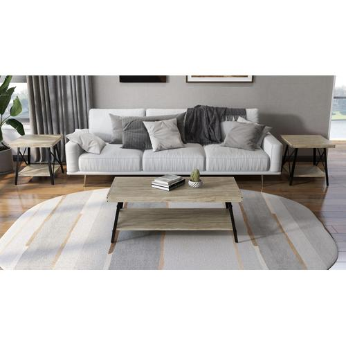 Chandler Coffee Table, Whitewash T100-0e