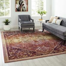 See Details - Success Kaede Transitional Distressed Vintage Floral Persian Medallion 8x10 Area Rug in Multicolored