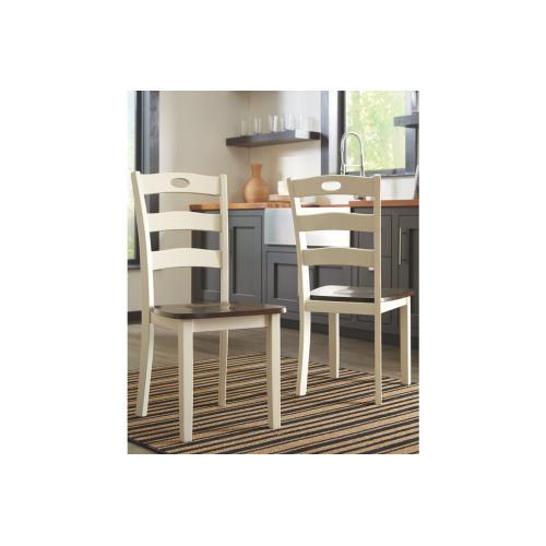Woodanville Dining Room Side Chair Cream/Brown