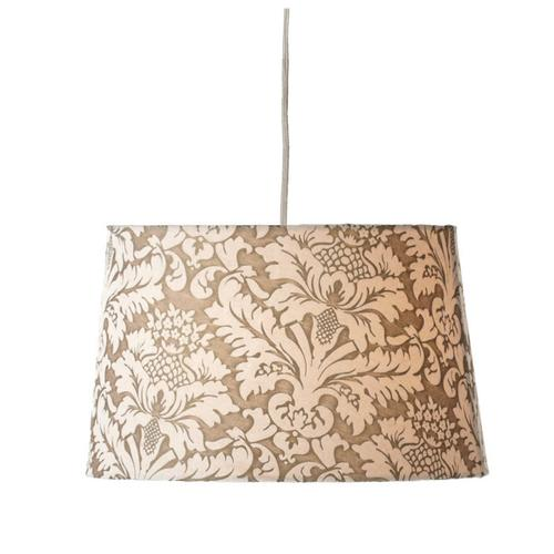 Ivory Brocade Hanging Pendent Lamp. 100W Max.