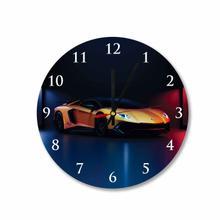 Lamborghini Aventador Round Square Acrylic Wall Clock