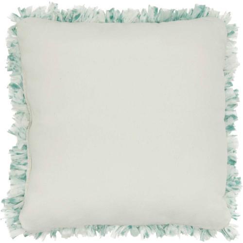 "Shag Dl860 Celadon 17"" X 17"" Throw Pillow"