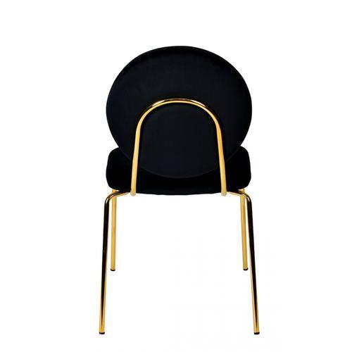 Modrest Justine Modern Black & Green Velvet Dining Chair (Set of 2)