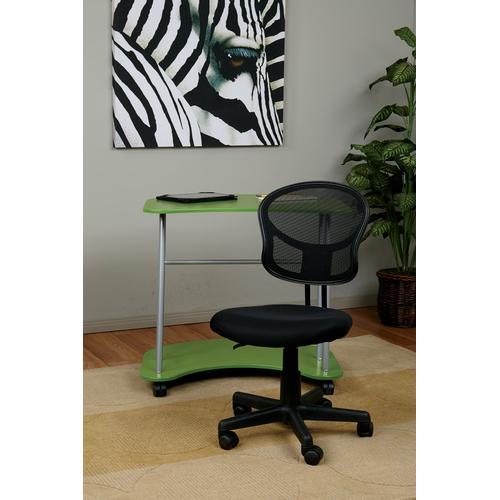 Mesh Task Chair In Black Fabric