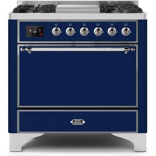 36 Inch Blue Dual Fuel Natural Gas Freestanding Range