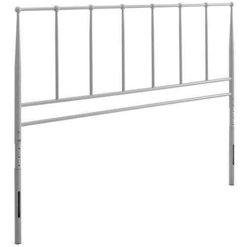 Kiana Full Metal Stainless Steel Headboard in Gray