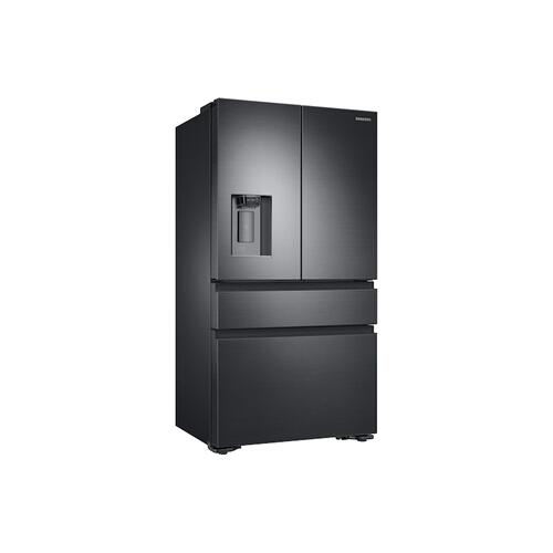 23 cu. ft. Counter Depth 4-Door French Door Refrigerator in Black Stainless Steel