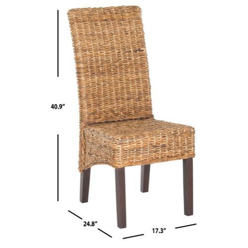 "Bangka 18""h Rattan Side Chair - Natural"