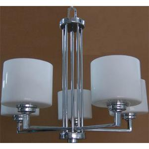 5-lite Ceiling Lamp, Chrome/frost Glass Shade, E27 A 60wx5