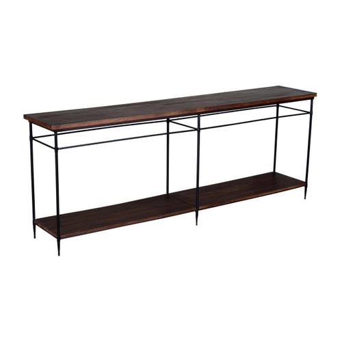 83X16X32, WOOD & METAL CONSOLE TABLE, 1PK/33.10'
