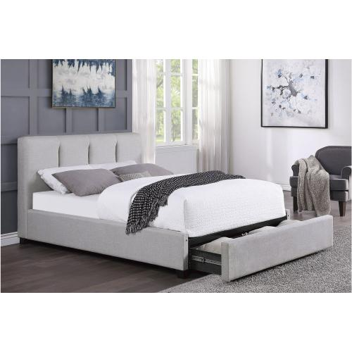 California King Platform Bed with Storage Drawer