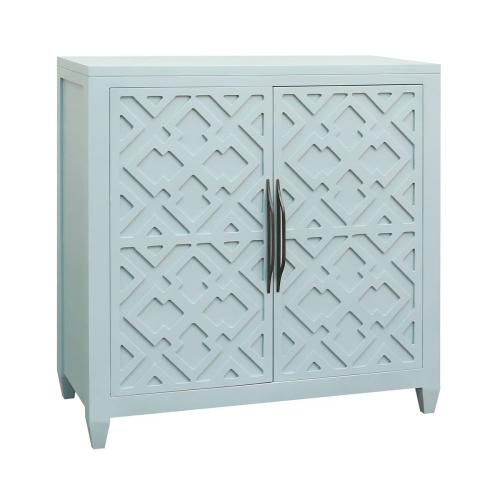 Topher 2-door Cabinet In Aqua Marine