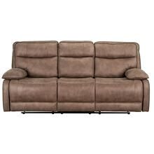 Colleton Manual Motion Reclining Sofa with Power Strip, Beige