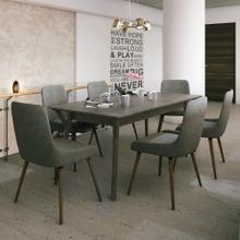 Mira/Mia 7pc Dining Set, Grey/Dark Grey