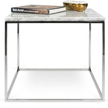 Faux Marble Finish End Table MDF Chrome Base Modern Living Room Wholesale
