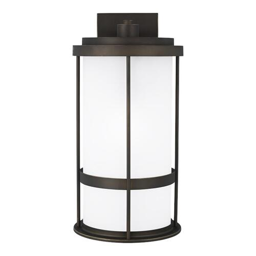 Wilburn Large One Light Outdoor Wall Lantern Antique Bronze