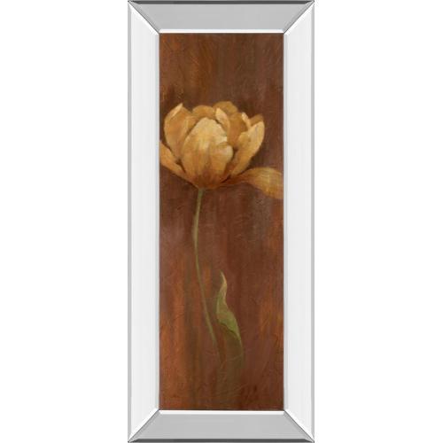 "Classy Art - ""Golden Tulip I"" By Nan Mirror Framed Print Wall Art"