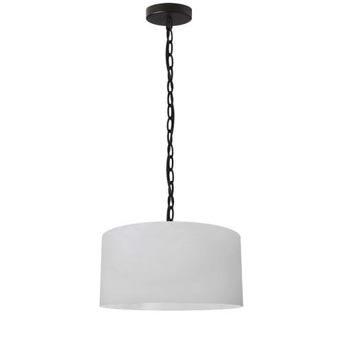 Product Image - 1lt Braxton Small Pendant, Wht Shade, Blk