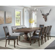See Details - Gramercy Dining Set - Table, Dining Sofa, and 6 Rectangle Back Chairs