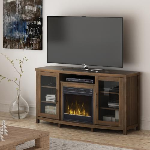Classic Flame - Rossville TV Stand with Electric Fireplace