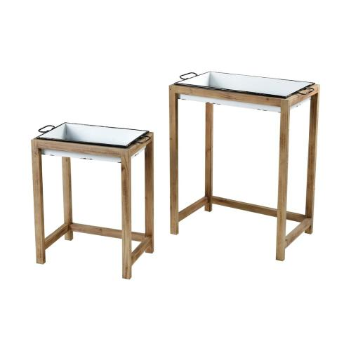 Oyster Creek Accent Tables - Set of 2