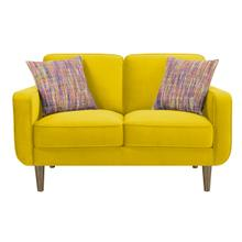 Loveseat W/2 Pillows Yellow #fms-dm156-34
