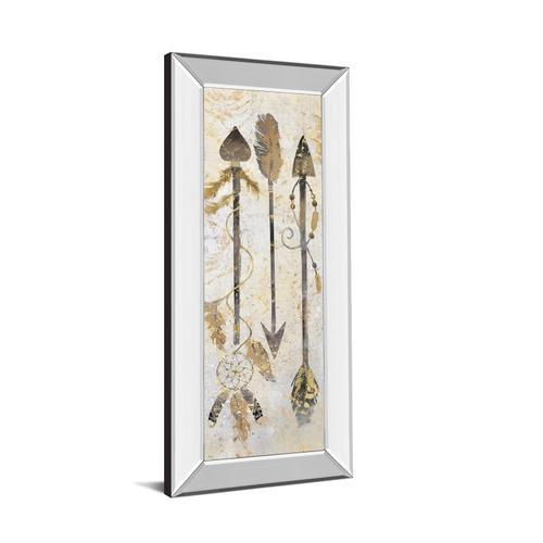 "Classy Art - ""Tribal Arrows"" By Nan American Indian Mirrored Frame Print Wall Art"