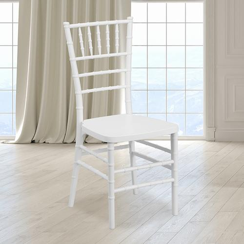 Flash Furniture - HERCULES PREMIUM Series White Resin Stacking Chiavari Chair