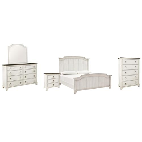 Ashley - Queen Panel Bed With Mirrored Dresser, Chest and Nightstand