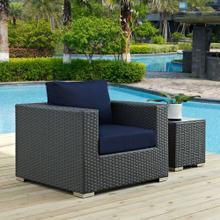 Sojourn Outdoor Patio Sunbrella® Armchair in Canvas Navy