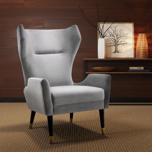 Logan Grey Velvet Chair