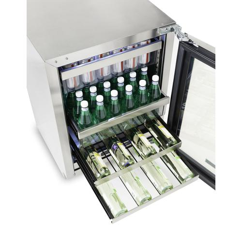 """24""""W. Stainless Steel Interior Undercounter Beverage Center - VUBV Viking Professional Product Line"""