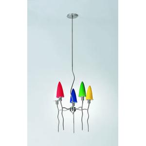5-lite Ceiling Lamp, Ps/blue 60wx5/b Type