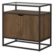Anthropology Coffee Bar with Storage - Rustic Brown