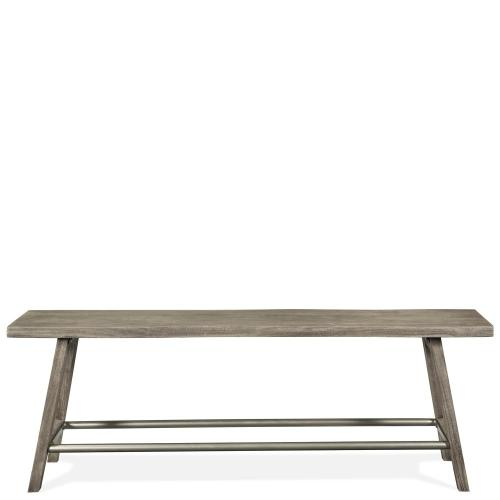 Waverly - Counter Height Dining Bench - Sandblasted Gray Finish