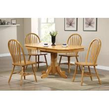 DLU-TCP3660-820-LO5PC  5 Piece Pedestal Extendable Dining Set  Arrowback Chairs