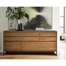 View Product - Nevada Rustic Oak Wood Sideboard In Balsamico