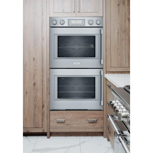 Thermador - Double Wall Oven 30'' Left Side Opening Door, Stainless Steel POD302LW