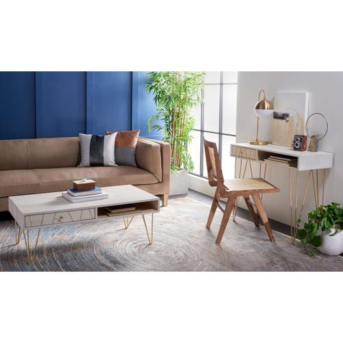 Safavieh - Marigold Coffee Table - White Wash / Brass