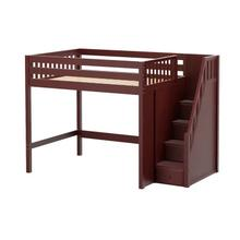 See Details - High Loft w/ Staircase on End : Full : Chestnut : Slat