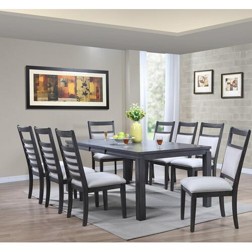 Dining Set - Shades of Gray (9 Piece)