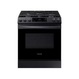 Samsung Appliances6.0 cu. ft. Front Control Slide-in Gas Range with Wi-Fi in Black Stainless Steel